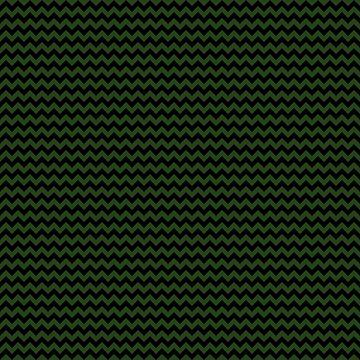 Small Dark Forest Green and Black Chevron Stripes by podartist