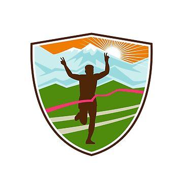 Victorious  Marathon Runner Shield by patrimonio