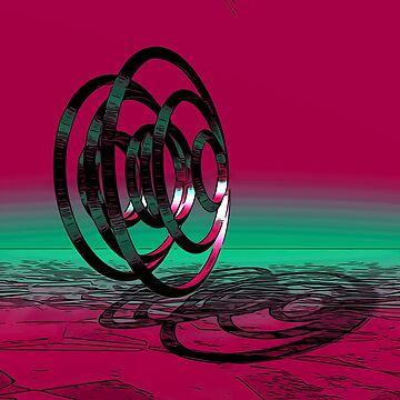 3D rings digital art digitalart abstract gift by Netsrikfa