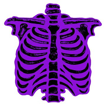 Halloween Skeleton Rib Cage Purple by ArtVixen