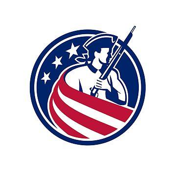 American Patriot USA Flag Icon by patrimonio