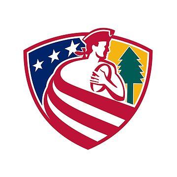 American Patriot Rugby Shield by patrimonio