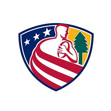 American Rugby Union Player Badge by patrimonio