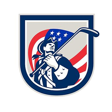 American Patriot Ice Hockey Shield by patrimonio