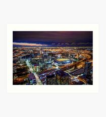 Melbourne at Night Art Print