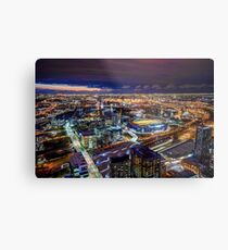 Melbourne at Night Metal Print