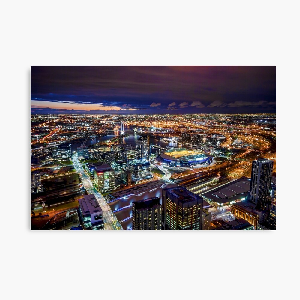Melbourne at Night Canvas Print