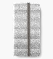Kid Gorgeous Transcript iPhone Wallet/Case/Skin