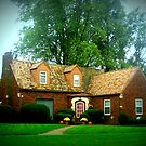 Autumn Country Cottage by Linda Miller Gesualdo