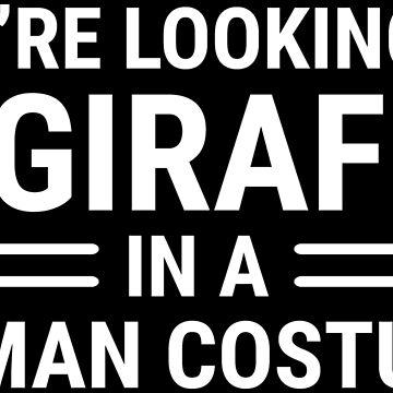 Giraffe In A Human Costume Funny Giraffe T-shirt by zcecmza