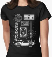 BTTF Icon Set Women's Fitted T-Shirt