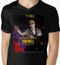 Elton Tahu John Farewell Yellow Brick Road Final Tour 2018 Men's V-Neck T-Shirt