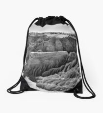 Lunette Sunrise Landscape - Mungo NP in BW Drawstring Bag