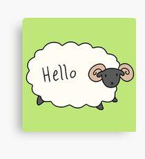 Hello Ram Canvas Print