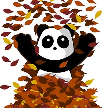 Autumn Leaves Panda by pda1986