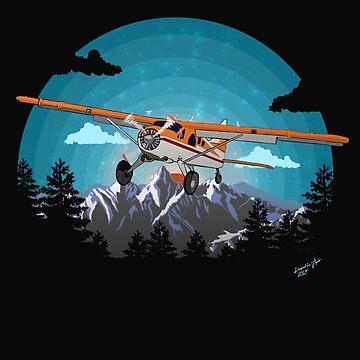 """Twilight Flight""   Bushplane Mountain Design by RealPilotDesign"