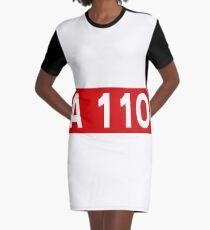 Autoroute française A 110 | Autoroute de la Beauce | France Highway Shield Sign Graphic T-Shirt Dress