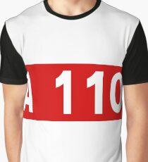 Autoroute française A 110 | Autoroute de la Beauce | France Highway Shield Sign Graphic T-Shirt
