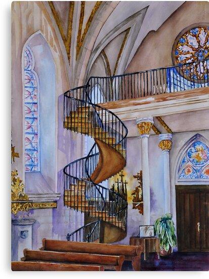Loretto Chapel Staircase - Santa Fe, NM by Joy Skinner