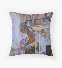 Loretto Chapel Staircase - Santa Fe, NM Throw Pillow