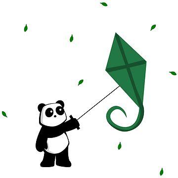 Panda with Kite by pda1986