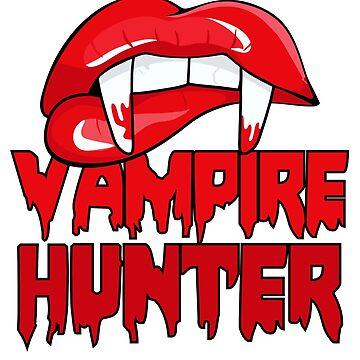 Vampire Hunter Halloween tshirt by cecatto