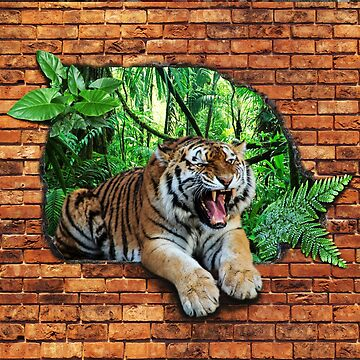 Tiger - Window To The Jungle  by ImageMonkey