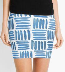 Blue Parquet Mini Skirt