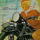 Happy Weekend...Bavarian Hausfrau Bike Rider 1934 by edsimoneit