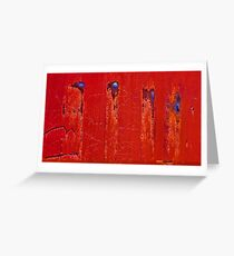 Bullet Wounds Greeting Card