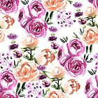 Fall floral pattern by Anis Illustration