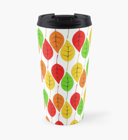Cascading Autumn Leaves Travel Mug