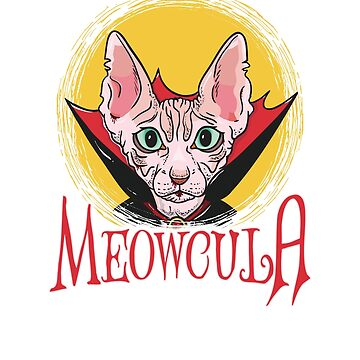 Meowcula Vampire Cat Halloween by CreativeFit