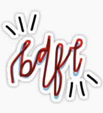 bdfr 4 (brian dozier - jordan mattson) Sticker