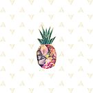 Geometric Pineapple Floral by LemonLovegood