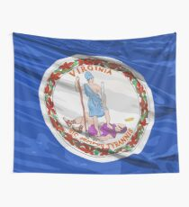 Virginia Fancy Flag Wall Tapestry