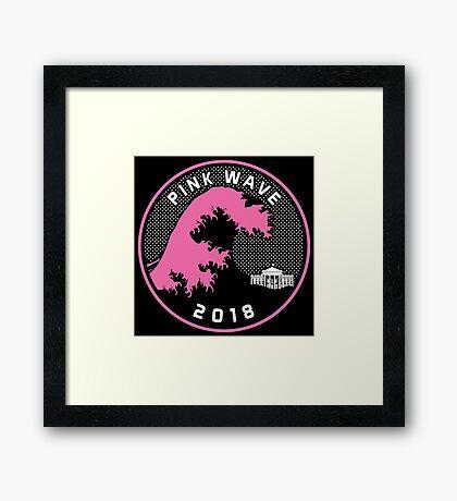 Pink Wave 2018 T-shirts Framed Print