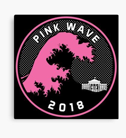 Pink Wave 2018 T-shirts Canvas Print