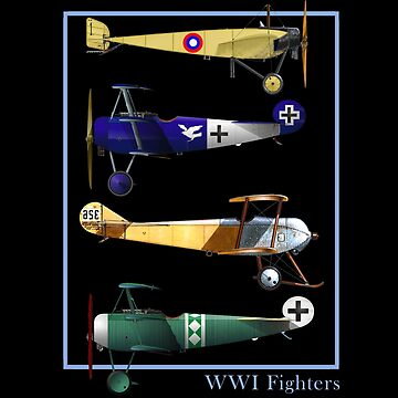 WWI Fighters Airplanes by joseluizleite