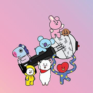 BT21 and Bangtan Bomb by ThaliMarie