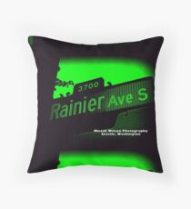 Rainier Avenue1 South Riddlar Edition Seattle Washington by Mistah Wilson Photography Floor Pillow