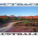 Outback Trail (poster on white) by Ray Warren