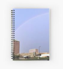 Rainy Rainbow Spiral Notebook