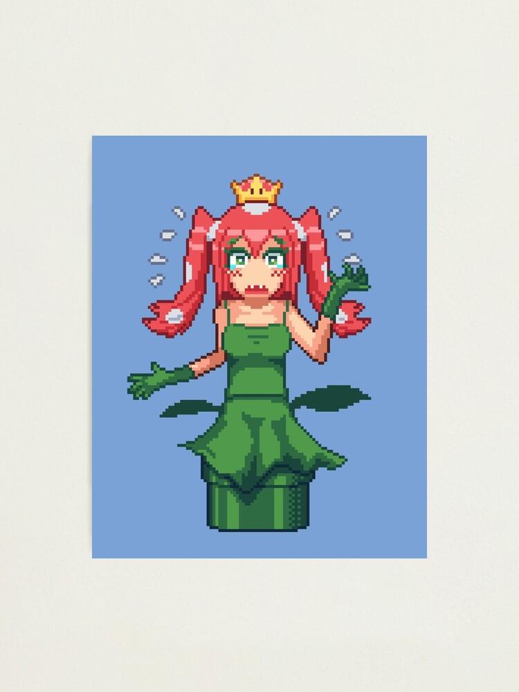 Princesse Piranha Peach Pixel Art Impression Photo