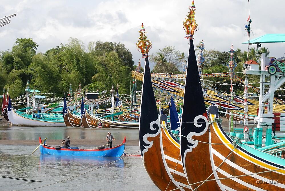 Bugis Boats - Bali by outsider