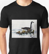 Canadian Goose & Babies Unisex T-Shirt