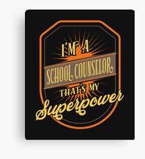 school counselor Canvas Print