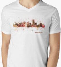 San Francisco California City Skyline Men's V-Neck T-Shirt