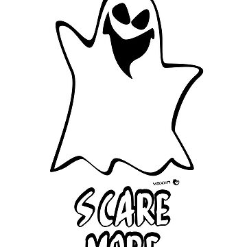 Scare More - Halloween Ghost by vaxiin