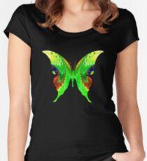Fractal Butterfly Art Women's Fitted Scoop T-Shirt